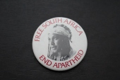 Badge anti-apartheid, 1980-94.